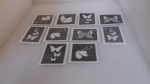 Butterfly themed stencils for etching on to glass